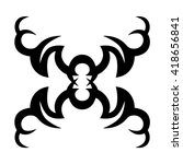 tribal tattoo vector designs... | Shutterstock .eps vector #418656841