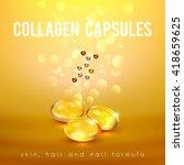 collagen capsules for strong... | Shutterstock .eps vector #418659625