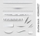 semitransparent white paper... | Shutterstock .eps vector #418660027