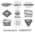 Vintage Airship Logo Designs...