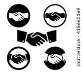 hand shake symbol set | Shutterstock .eps vector #418662169