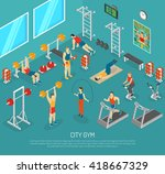 city fitness workout gym center ... | Shutterstock .eps vector #418667329