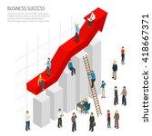 business success poster of... | Shutterstock .eps vector #418667371