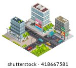 city shopping center in... | Shutterstock .eps vector #418667581