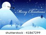 blue christmas background | Shutterstock .eps vector #41867299