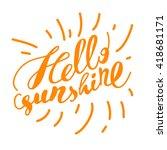 hand drawn summer card.... | Shutterstock .eps vector #418681171