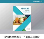 flyer leaflet brochure template ... | Shutterstock .eps vector #418686889