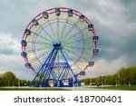 colorful ferris wheel in a... | Shutterstock . vector #418700401