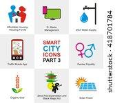 smart city icons | Shutterstock .eps vector #418701784