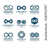 set of various infinity symbols ... | Shutterstock .eps vector #418701997