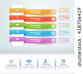 infographics arrows and web... | Shutterstock .eps vector #418706419