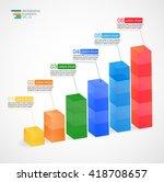 modern multicolor vector 3d...   Shutterstock .eps vector #418708657