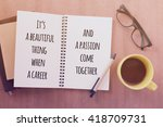 inspirational motivating quote...   Shutterstock . vector #418709731
