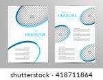 vector flyer template design.... | Shutterstock .eps vector #418711864