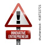 innovative entrepreneur warning ... | Shutterstock . vector #418722721