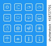 white line weather icon set...