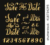 save the date.wedding... | Shutterstock .eps vector #418734295