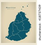 modern map   mauritius with... | Shutterstock .eps vector #418737439