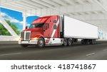 american cargo truck | Shutterstock . vector #418741867
