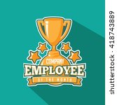 employee of the month trophy... | Shutterstock .eps vector #418743889