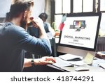 digital marketing media web... | Shutterstock . vector #418744291