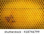 Closeup Of Honeycomb Without...