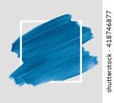 logo art brush paint vector.... | Shutterstock .eps vector #418746877