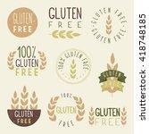 gluten free | Shutterstock .eps vector #418748185