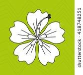 hawaiian flower design  | Shutterstock .eps vector #418748251