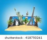 concept of travel landmarks... | Shutterstock . vector #418750261