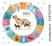 dog info graphic template.... | Shutterstock .eps vector #418752739