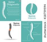 flat spine icon for orthopedic...   Shutterstock .eps vector #418759594