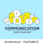 vector illustration of yellow... | Shutterstock .eps vector #418768015