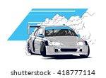 drifting logo  emblem  label ...   Shutterstock .eps vector #418777114