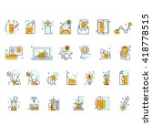 modern thin line icons set... | Shutterstock .eps vector #418778515