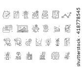 modern thin line icons set... | Shutterstock .eps vector #418778545
