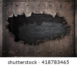 Torn Hole In Rusty Metal Steam...