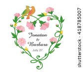 decorative graphics color frame ... | Shutterstock .eps vector #418785007