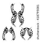 tribal pattern set   Shutterstock .eps vector #418795081