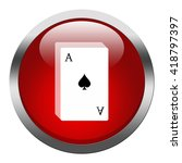 playing cards icon | Shutterstock . vector #418797397