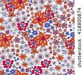 vector flower pattern. colorful ... | Shutterstock .eps vector #418800874