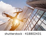 silhouette of drone concept in... | Shutterstock . vector #418802431