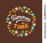 summer time background with... | Shutterstock .eps vector #418804021