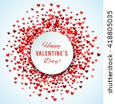romantic red heart background.... | Shutterstock . vector #418805035