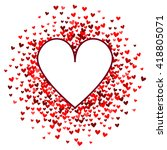 romantic red heart background.... | Shutterstock . vector #418805071