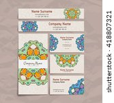 set of vector design templates. ...   Shutterstock .eps vector #418807321