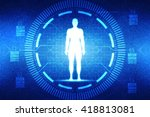 male in anatomical position in... | Shutterstock . vector #418813081