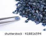 raw  uncut and rough blue... | Shutterstock . vector #418816594