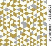 seamless golden pattern of... | Shutterstock .eps vector #418818325