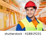 manual worker. | Shutterstock . vector #418819231